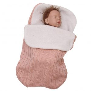 New For Baby Swaddle Blanket Knit Sleeping Bag