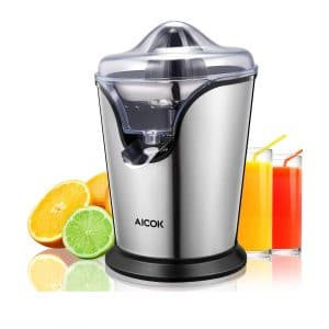 AICOK Orange Electric Stainless Steel 100W Juice Press