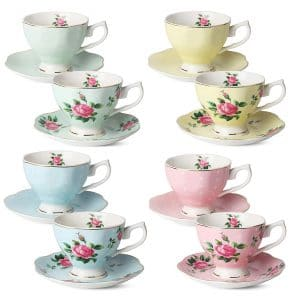 Brew To A Tea Floral Tea Cups