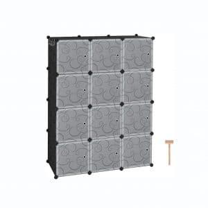 C&AHOME Cube Storage 12 Cube Plastic Closet Cabinet