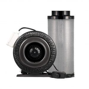 Yield Lab 440 CFM 6 Inch Charcoal Filter Duct Fan Kit