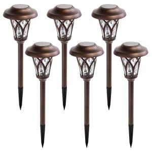 GIGALUMI 6 Pcs Solar Garden Lights