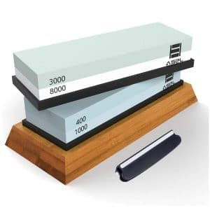 ASEL Kitchen Double Sided Knife Sharpening Stone