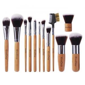 EmaxDesign 12 Pieces Makeup Brush Bamboo Handle