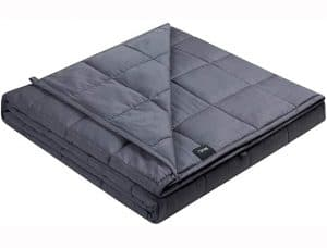 "Quility Premium Adult Weighted Blanket & Removable Cover - 20 lbs - 60""x80"" - for Individual Between 190-240 lbs - Full Size Bed - Premium Glass Beads - Cotton Minky"