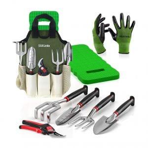 Sleek Garden 8-Piece Comfort Plus Gardening Tool Set