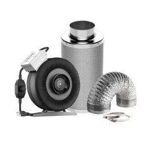VIVOSUN 4 Inch CFM Inline Fan Air Filtration Kit