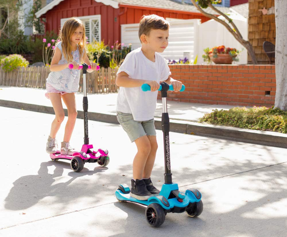Yionloe Durable Portable With Flash Wheels Folding Adjustale Sliding Children Scooter Rocking Ride-Ons