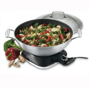 Cuisinart WOK-730 7-2:7-Quart Electric Wok, Stainless Steel