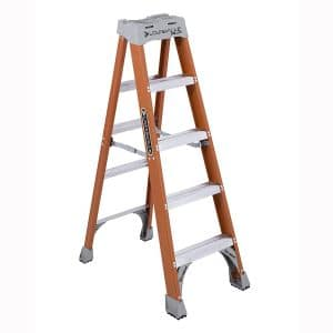 Louisville Ladder FS1505 300-Pound Duty Rating Fiberglass Step Ladder, 5-Feet