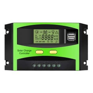 MOHOO Solar Charge Controller, 30A Solar Charger Controller, 12V:24V Solar Panel Intelligent Regulator with Dual USB Port and PWM LCD Display (Upgraded)