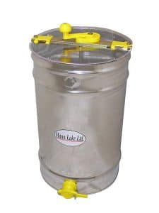 Mann Lake HH160 Stainless Steel 6 3-Frame Hand Crank Extractor without Legs