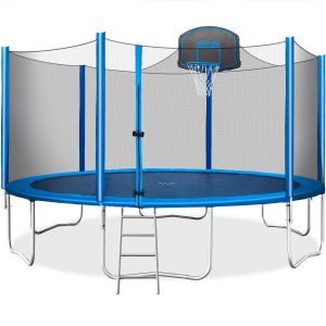 Merax Trampoline with a Safety Enclosure Net