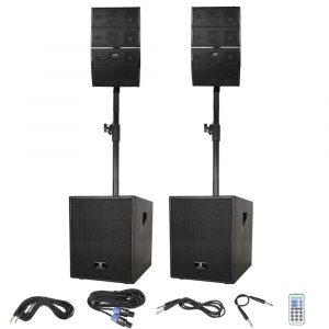 PRORECK Club 12-Inch 3000-Watt DJ Powered PA Speaker System