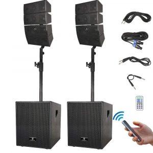 PRORECK Club 12-Inch 3000-Watt DJ Powered PA Speaker System
