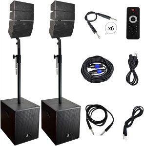 PRORECK Club 12-Inch 4000-Watt DJ Powered PA Speaker System