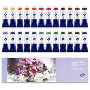 Paul Rubens Watercolor Paint Set, 12ml Tubes, Perfect for a Hobbyist and Artist