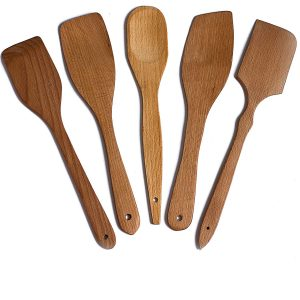 ECOSALL Nonstick Wooden Cooking Spoons