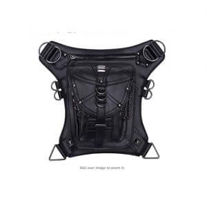 Kingwolfox PU Leather Fanny Bag Tactical Drop Leg Arm Bag