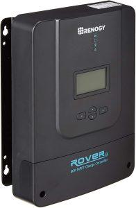 Renogy Rover 60 Amp 12V 24V 36V 48V DC Input MPPT Solar Charge Controller Auto Parameter Adjustable LCD Display Solar Panel Regulator fit