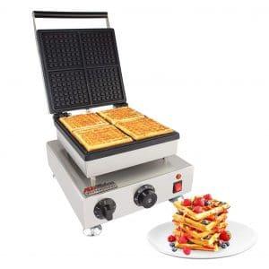 ALDKitchen Belgian 4 Square Waffle Iron