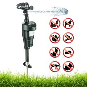 Activated Motion Sensor Water Sprinkler Animal Repellent – Ultra Humane & Safe Way of Scaring Away Wild Animals