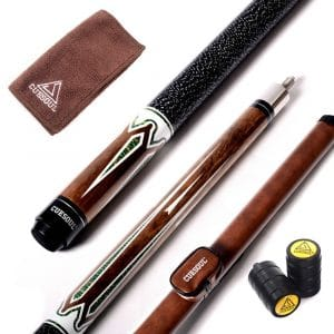CUESOUL 58-Inches Maple Billiard Stick Pool Cue