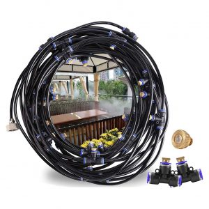 CozyCabin Misting Cooling System for Patio Garden Greenhouse