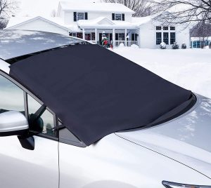 Car Windshield Snow Cover Protection Magnetic Edges for No Scratches No More Scraping Winter Outdoor Waterproof Ice Frost Defense Guard Double Sided Sunshade UV Protector for 4 Seasons