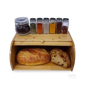 West Melrose Design Wooden Bread Box