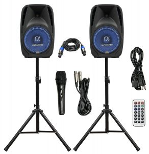 ALPHASONIK All-in-One 10-Inch Powered 1000W Party Speaker