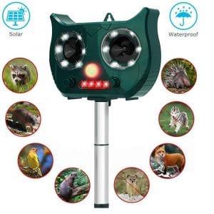 Fierre Shann Solar Ultrasonic Animal Repeller