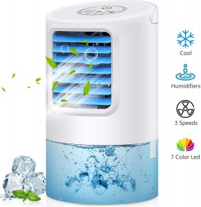 GREATSSLY Air Conditioner Fan 3 Degrees Changeable Angle