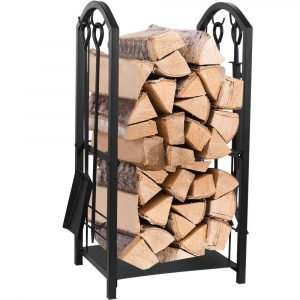 Juvale Firewood Rack with Fireplace Rack