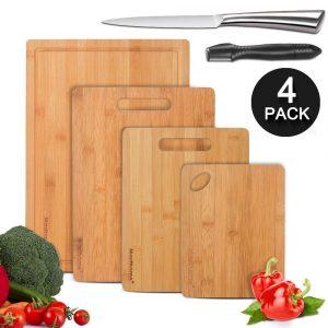 Mastertop Bamboo Cutting Board 4-Pieces