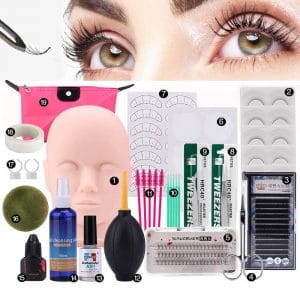 NUXIUS Eyelash Extension Practice Set