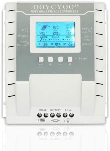 OOYCYOO MPPT Charge Controller 60 80 100 amp, 12V 24V Auto 40 60 80 100A Solar Panel Charge Regulator, Max 100V Input with LCD Display for Lead-Acid Sealed Gel AGM Flooded Lithium Battery