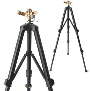 SOMMERLAND Brass Impact Tripod Sprinkler for Garden and Lawn with Heavy Duty Brass Impact Sprinkler Head(16-37 w Head)