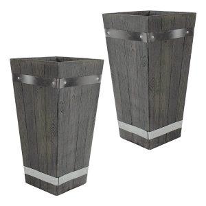 Sunnydaze Indoor:Outdoor Barrel Planter Flower Pot