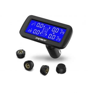 CACAGOO Wireless TPMS with 4pcs & Pressure LCD Display