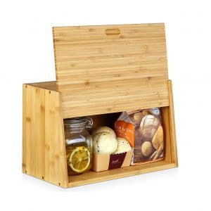 Homfa Bamboo Large Bread Box