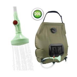 Camping Solar Shower Bag Portable Multifunctional Solar Bathing Heating Bag for Outdoor Hiking Traveling Hainter 5 Gallon Summer Shower//Solar Shower