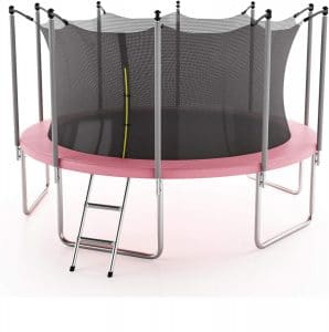 JRSOKO Kids Adults Trampoline with Enclosure Net Durable Stand Net Go Outside The Poles High Elasticity Trampoline with Safety Enclosure Indoor or Outdoor Trampoline for Kids