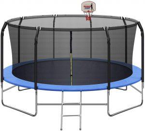 LUKDOF 14FT Trampoline for 5-7 Kids