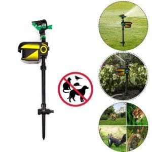 Solar Scarecrow Powered Motion Activated Animal Repeller Garden Sprinkler Black Repellent New #124