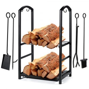 Syntrific Fireplace Log Rack