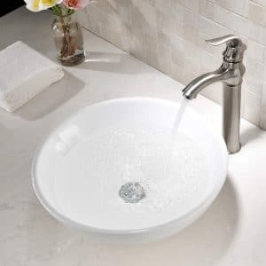 TRIUN White Porcelain Ceramic Vessel Sink
