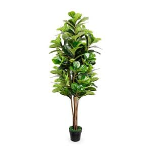 TUSY Fiddle Leaf Fig Artificial Tree, 6-ft