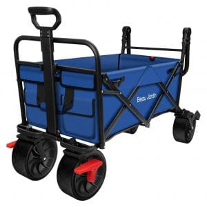 BEAU JARDIN Folding Push Wagon Cart Collapsible Folding Cart