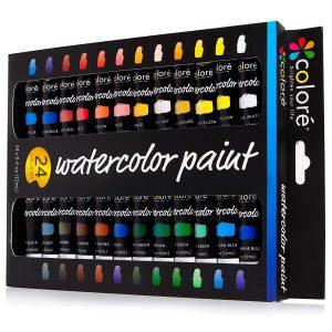 Colore Watercolor Painting Set, 24 Colors